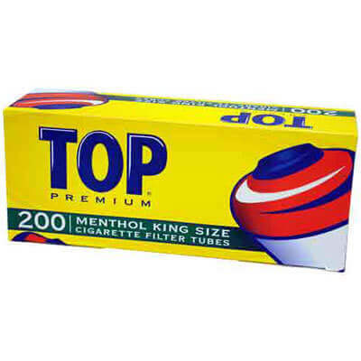 Top Menthol King Cigarette Tubes 200ct Carton Roll Your